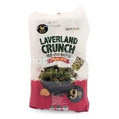 Manjun Laverland Crunch Rumput Laut Rasa Cabai Habanero