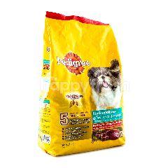 Pedigree Mainan dan Makanan Jenis Anjing Kecil dengan Daging Domba dan Sayuran