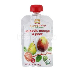Happy Baby Organic Stages 2 Pears, Mangos & Spinach 3.5oz