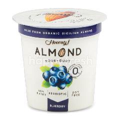 ฮูเร่ โยเกิร์ตแอลมอนด์หมักจุลินทรีย์ ผสมบลูเบอร์รี่ 120 กรัม