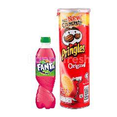 Fanta Rasa Cocopandan 1.5L dan Pringles Keripik Kentang Original