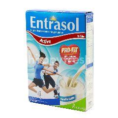 Entrasol Active Susu Bubuk Rendah Lemak Tinggi Kalsium Rasa Vanilla Latte
