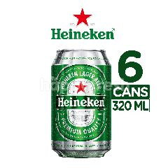 Heineken International Lager Bir Kaleng 6 Packs