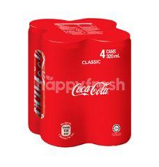 Coca-Cola Original Carbonated Soft Drink 4x320ml