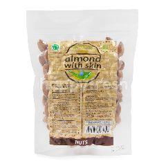 Trio Natural Kacang Almond dengan Kulit