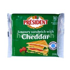 President Sandwich With Cheddar Cheese (10 Slices)