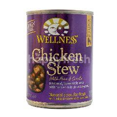Wellness Makanan Anjing Daging Ayam Rebus dengan Kacang Polong dan Wortel