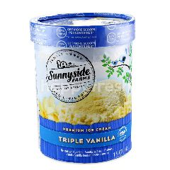 Sunnyside Farms Premium Ice Cream Triple Vanilla