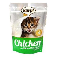 Burp! Pouch Chicken With Chicken Ham In Gravy 85g