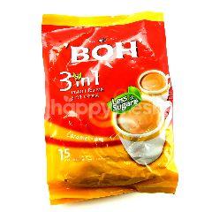 Boh 3-in-1 Caramel Less Sugar Instant Tea Mix (15 bags)