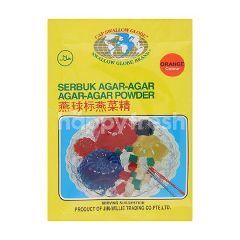 Swallow Globe Brand Orange Colour Agaragar Powder
