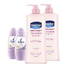 Vaseline Losion dan Rexona Deodoran Paket