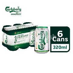 Carlsberg Smooth Draught Beer Can (320ml x 6)