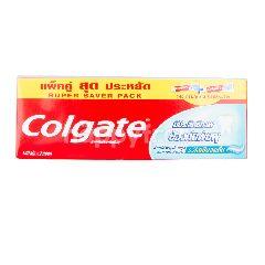 คอลเกต ยาสีฟัน สูตรริ้วใสเย็นสดชื่น แพ็คคู่