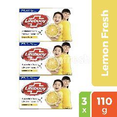 Lifebuoy Sabun Batang Lemon Fresh Antibacterial Triplepack
