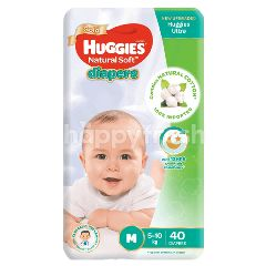 Huggies Natural Soft Baby Diapers M40