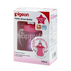 Pigeon Petite Straw Bottle Pink 9 Bulan Keatas