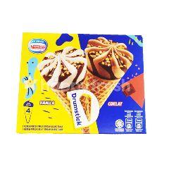 Nestle Drumstick Ice Cream (2 Vanilla Cones + 2 Chocolate Cones)