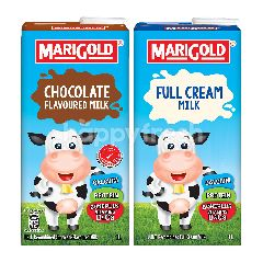 Marigold Bundle of UHT Full Cream Milk and Marigold UHT Chocolate Milk