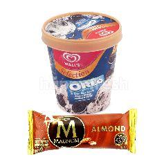 Wall's Selection Vanilla Biskuit Oreo dan Magnum Almond