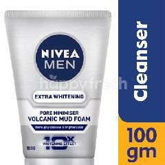 Nivea Men Extra Whitening Pure Minimiser Mud Facial Foam