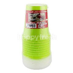 Ocs Colour Plastic Cup J8 200ml