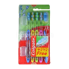 Colgate Twister Fresh Soft Bristle Tooth Brush (5 Pieces)