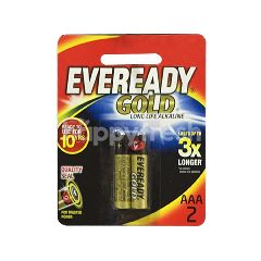 Eveready Alkaline Gold Battery AAA (2 Pieces)