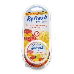 Refresh Your Car Extra Value Odor Eliminated Scented Gel (Fresh Strawberry + Cool Lemonade Scent)