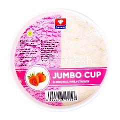 Diamond Es Krim Rasa Vanila & Stroberi Jumbo Cup