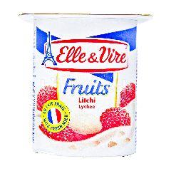 Elle & Vire Yogurt Rasa Buah Leci