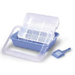 Ace Pet Litter Pan With Scoop / Mesh Tray (Set)