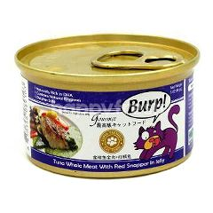 Burp! Tuna Whole Meat With Red Snapper In Jelly 85g