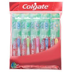 Colgate Twister Fresh Medium Bristle Tooth Brush (5 Pieces)