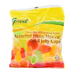 Giant Assorted Fruity Flavour Mini Jelly Cups (15 Cups)