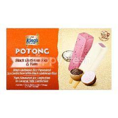 King's Potong Black Glutinous Rice & Yam Ice Cream (6x60ML)