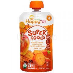 Happybaby Stage 4 - Sweet Potato/Apple/Carrot (120g)