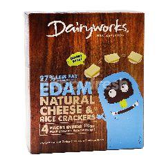 Dairyworks Edam Natural Cheese & Rice Crackers