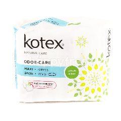Kotex Maxi Odour-Care - 24cm - Wing - Daun Sirih