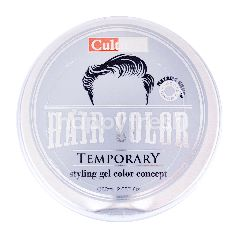 Cultusia Gel Penata Rambut Warna Temporer Metalik Silver