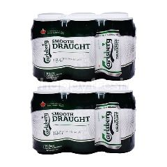 Carlsberg Smooth Draught Beer Cans Bundle (2 x 6 Cans x 320ml)