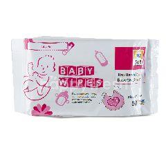 Super Indo 365 Tisu Basah Bayi Merah Muda