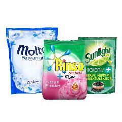 Unilever Rinso, Molto, Sunlight Paket Rumah Bersih 4