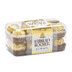 เฟอเรโร รอชเชอร์ ช็อกโกแลตนมผสมเกล็ดเฮเซลนัทสอดไส้ครีม 200 กรัม