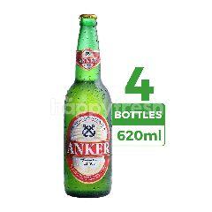 Anker Bir Pilsener (Botol) 620ml  4-Pack