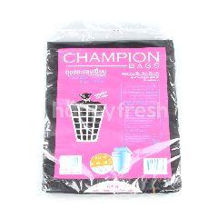 แชมป์เปี้ยน ถุงขยะ พร้อมเชือกมัดปากถุง ขนาด 36 x 45 นิ้ว