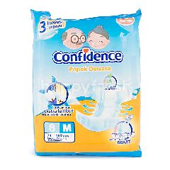 Confidence Popok Dewasa Anti Bakteri dengan Ekstrak Lidah Buaya Ukuran M