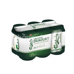 Carlsberg Smooth Draught Beer With Cooler Sleeve (6 Cans X 320ml)