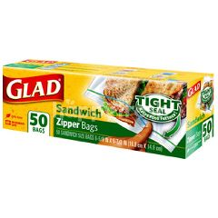 Glad Sandwich Zipper Bags