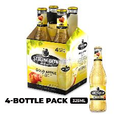 Strongbow Apple Ciders Gold Apple Bottle 4x330ml